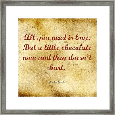 All You Need Is Love Framed Print