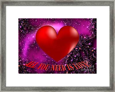 All You Need Is Love Framed Print by Rob Hawkins