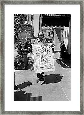 Allan Ginsberg Protest Framed Print