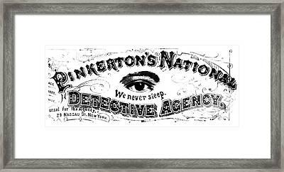 Allan Pinkerton (1919-1884) Framed Print by Granger