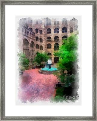Allegheny County Courthouse Courtyard Framed Print by Amy Cicconi