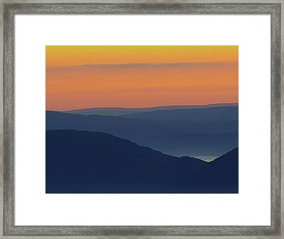 Allegheny Mountain Morning Framed Print