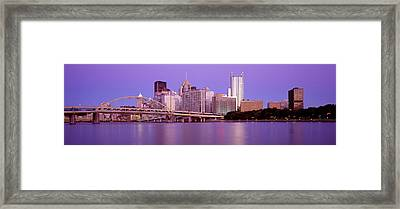 Allegheny River Pittsburgh Pa Framed Print by Panoramic Images