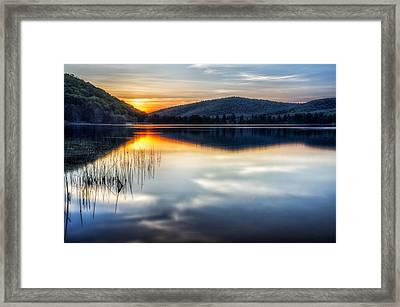 Allegheny Sunset Framed Print by Mark Papke