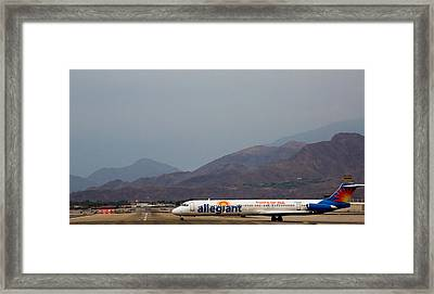 Allegiant At Palm Springs Airport Framed Print by John Daly