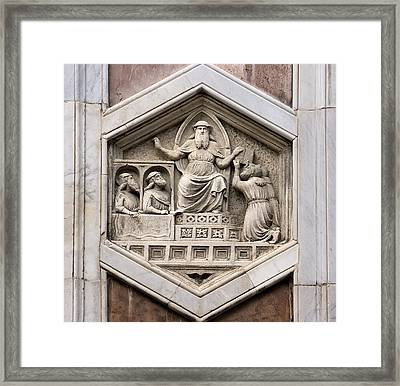 Allegorical Depiction Of Legislation Framed Print by Sheila Terry