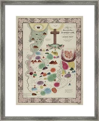 Allegorical Mapping Of Life Framed Print by British Library