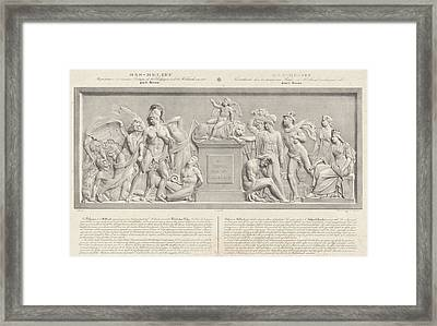 Allegorical Sculpture, The Belgian Revolution In 1830 Framed Print
