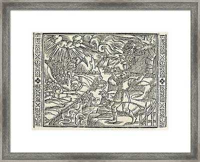 Allegories Of Old Age Framed Print by British Library