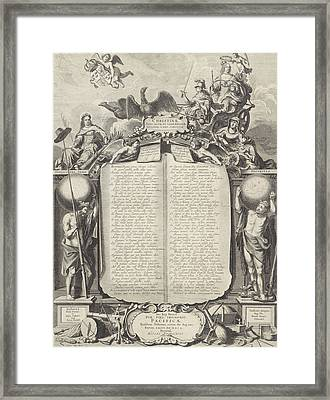 Allegory In Honor Of Christina Of Sweden Framed Print