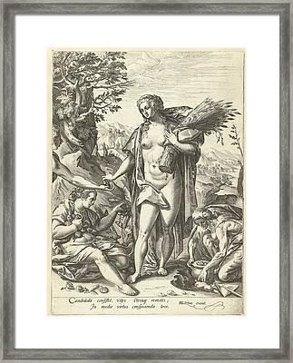 Allegory Of Charity, Hendrick Goltzius Framed Print by Hendrick Goltzius