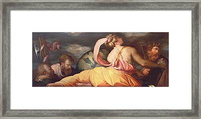 Allegory Of Geography Framed Print