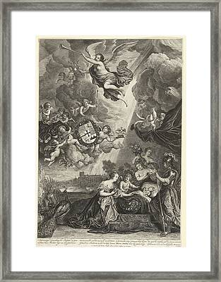 Allegory Of The Birth Of Princess Maria Amalia Framed Print