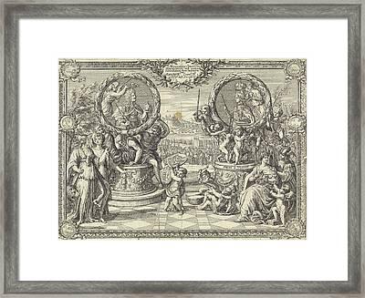 Allegory Of The Coronation Of Joseph I King Of Hungary Framed Print