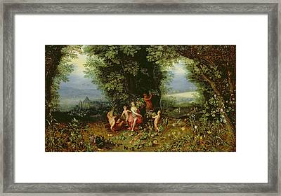Allegory Of The Earth Framed Print