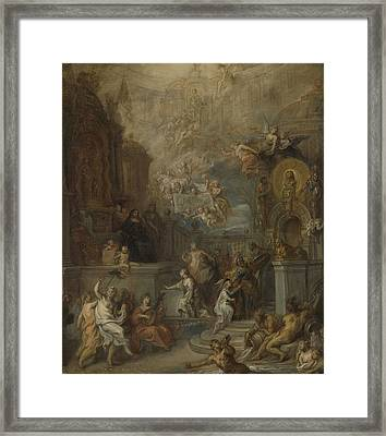 Allegory Of The Farewell Of William IIi From Amalia Van Framed Print