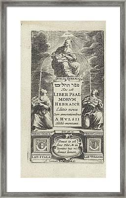 Allegory Of The Hebrew Bible, Print Maker Abraham Dircksz Framed Print