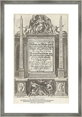 Allegory Of The History Of The Netherlands Framed Print