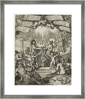 Allegory Of The Marriage Of Francis Mollo And Anna Maria Framed Print