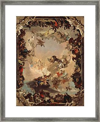 Allegory Of The Planets And Continents Framed Print by Giovanni Battista Tiepolo