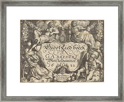 Allegory Of The Tragedy And Continue, Pieter Serwouters Framed Print