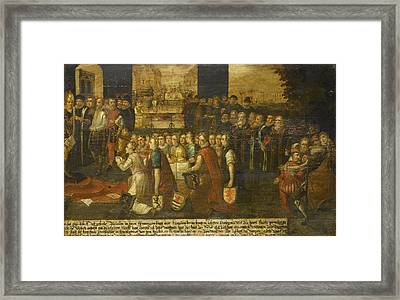 Allegory Of The Tyranny Of The Duke Of Alba Framed Print by Litz Collection