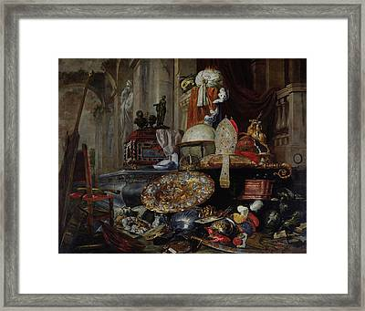 Allegory Of The Vanities Of The World, 1663 Oil On Canvas Framed Print