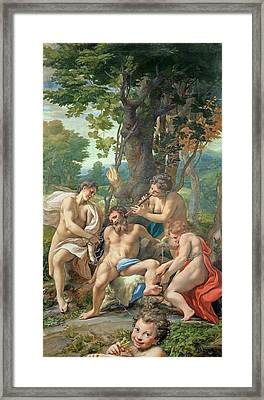Allegory Of The Vices Framed Print