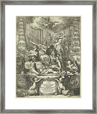 Allegory On The Death Of Michiel De Ruyter Framed Print by Romeyn De Hooghe