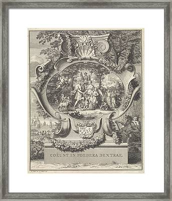 Allegory On The Occasion Of The Marriage Of Jacob Alewijn Framed Print