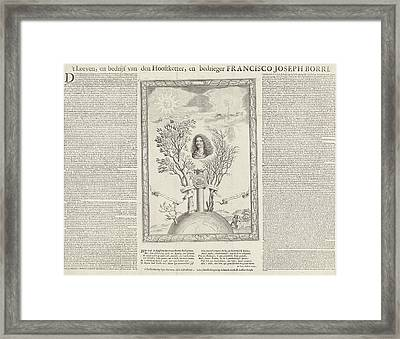 Allegory With The Portrait Of Gioseppe Francesco Borri Framed Print by Seger Tielemans