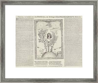 Allegory With The Portrait Of Gioseppe Francesco Borri Framed Print