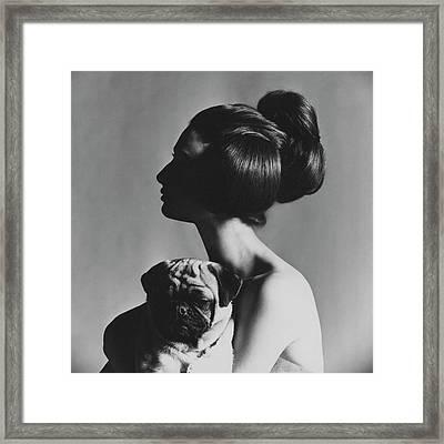 Allegra Caracciolo Di Castagneto Framed Print by Karen Radkai