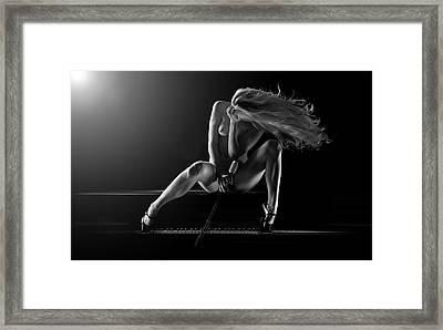 Allegro Framed Print by Dario Infini
