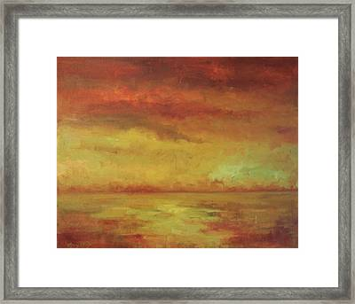 Framed Print featuring the painting Allegro by Mary Wolf