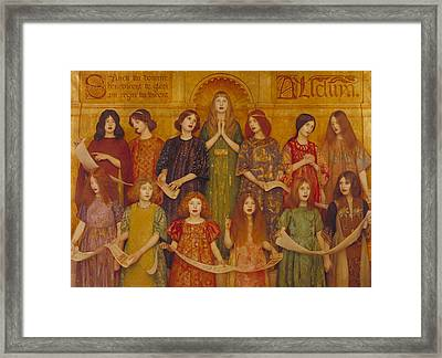 Alleluia Framed Print by Thomas Cooper Gotch