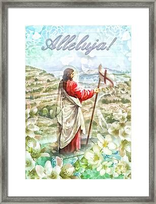Alleluja Framed Print by Mo T