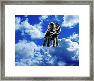 Framed Print featuring the photograph Allen And Steve In Clouds by Ben Upham