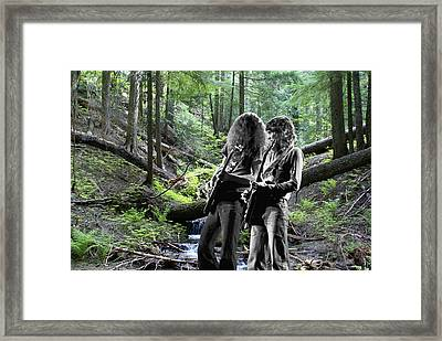 Framed Print featuring the photograph Allen And Steve On Mt. Spokane 2 by Ben Upham