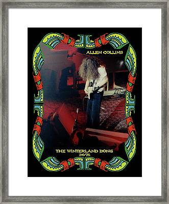 Framed Print featuring the photograph A C  Winterland Bong 6 by Ben Upham