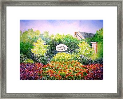 Allen Gardens Framed Print by Thomas Kuchenbecker