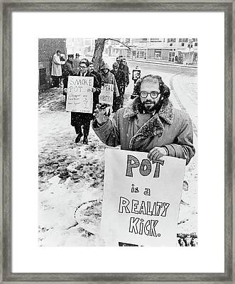 Allen Ginsberg (1926-1997) Framed Print