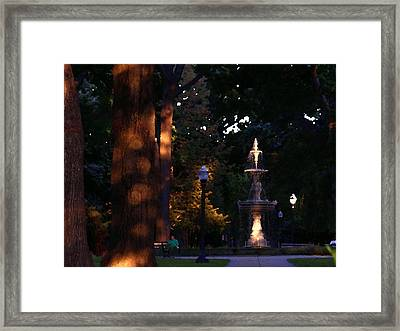 Allentown Pa Dusk At West Park Framed Print