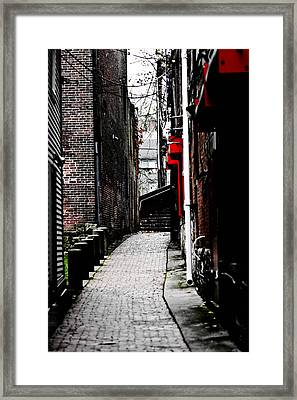 Alley Framed Print by Allan Millora