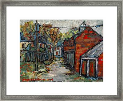 Alley Behind Sydenham Street Framed Print by David Dossett