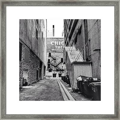 Alley By The Chicago Theatre #chicago Framed Print