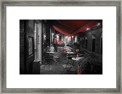 Alley Cafe Framed Print by Jeff Mize