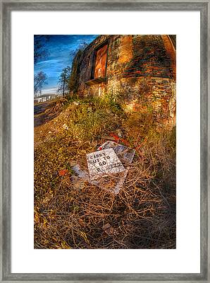 Framed Print featuring the photograph Alley Carry Out by Kimberleigh Ladd