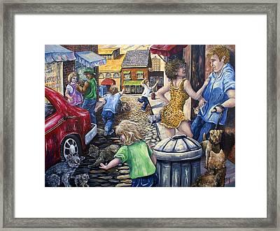Alley Catz Framed Print