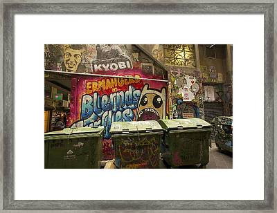 Alley Graffiti Framed Print by Stuart Litoff